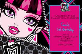 birthday invitations monster high choice image invitation design