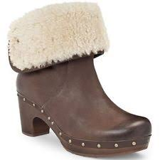 s ugg australia brown joey boots ugg australia s 100 leather pull on block boots ebay