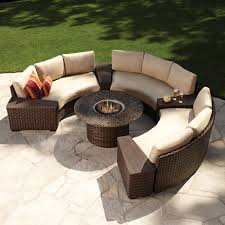 Modern Garden Table And Chairs Modern Outdoor Wicker Circular Patio Sectional With Stone Top Fire