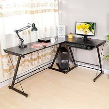 computer desk with cpu storage hlc folding l shape corner home office computer desk with pull out