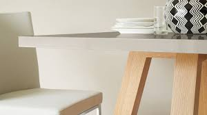 Oak Dining Table Uk with Modern Grey Gloss And Oak Cross 4 Seater Dining Table Uk
