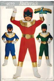 Halloween Costumes Sewing Patterns Power Rangers Zeo Kids Butterick Costume Sewing Pattern 4659 Cut