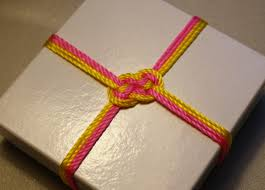 Nautical Themed Giveaways - diy sailor knot gift wrap tutorial wedding baby shower cute