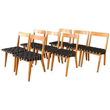 early set of eight jens risom for knoll 666 side chairs past perfect