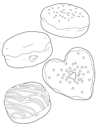 printable donut coloring pages treats donut coloring page dlish
