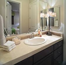 nice bathroom ideas with elegant single sink vanity with white