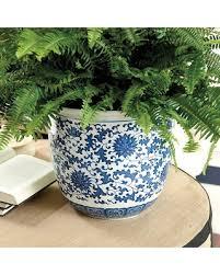halloween special ballard designs blue u0026 white chinoiserie planter