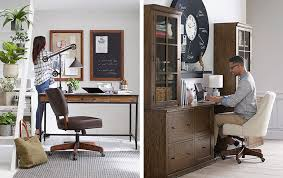 Modern Contemporary Home Office Desk Choosing The Home Office Desk Pottery Barn