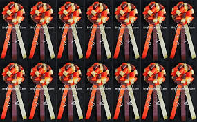 Wedding Pew Bows Set Of 14 Brown Orange U0026 Ivory Fall Wedding Bows Pew Bows Church