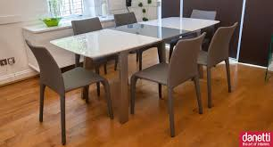 Glass Dining Room Tables With Extensions by Expanding Dining Table Set Expanding Dining Table Set Extendable