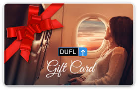 gift card for travel gifting dufl
