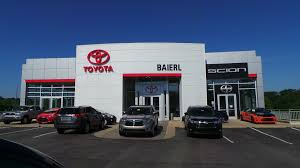 toyota dealer in toyota dealership cranberry twp pa used cars baierl toyota