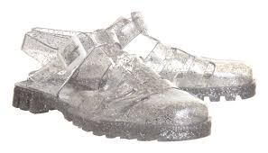 juju maxi low jelly shoes multi glitter sandals