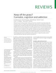 keep off the grass cannabis cognition and addiction pdf