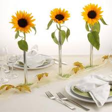sunflower centerpieces 30 sunflowers table centerpieces adding yellow color to