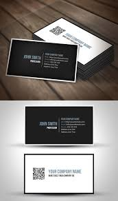 elegant black u0026 white qr code business card template business