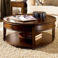 Accent Table With Storage Round Coffee Table With Storage Living Room Furniture Design Black