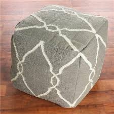 Pouf Ottomans Shades Of Light Soho Dhurrie Cube Pouf Ottoman Look 4 Less