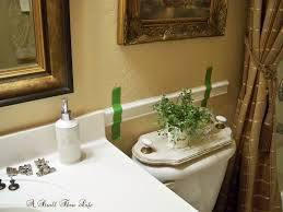 bathroom chair rail ideas a stroll thru bathroom makeover update chair rail