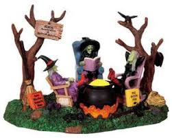 lemax spooky town 94966 retired witches battery operated 3v lemax spooky town