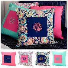 monogrammed pillow cover bedding gifts happen here