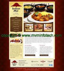 halloween web template indian restaurant template design