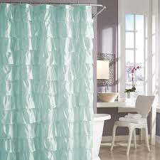 Urban Outfitters Waterfall Ruffle Curtain by Steve Madden Ruffles Shower Curtain In Pale Aqua Looks Kind Of
