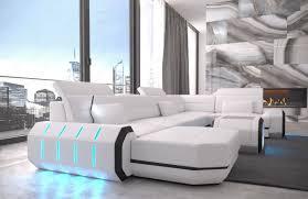 italienisches sofa wohnlandschaft ledersofa roma eckcouch luxus sofa sofa u form