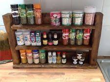 Rustic Spice Rack Kitchen Shelf Cabinet Made From Best Home Wooden Handmade Spice Jars U0026 Racks Ebay