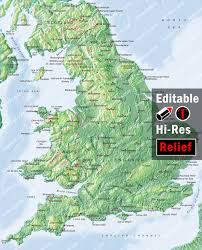 Bristol England Map by England Map Illustrator Mountain High Maps Plus