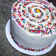 four layer funfetti birthday cake chelsweets