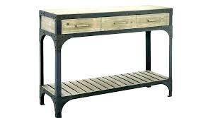 table bois cuisine console metal et bois cuisine en mal beautiful table cuisine console