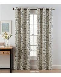 Yellow And Grey Curtain Panels Deal Alert Ikat 95 Grommet Top Window Curtain Panel Pair In Grey