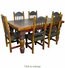 Mexican Chairs Mexican Country Style Painted Wood Dining Table And Chairs