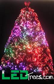 fiber optic christmas decorations going green with led fiber optic trees