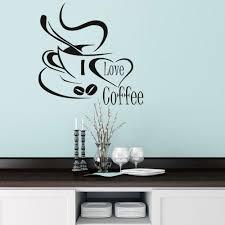 popular modern wallpaper designs buy cheap modern wallpaper dctop coffee cup with heart black vinyl wall stickers living room kitchen wall art decor home