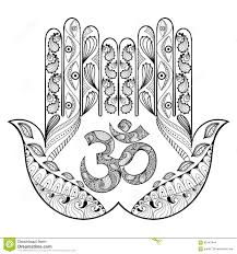 Hand Drawn Protection Hamsa Hand For Adult Coloring Pages In Doo Buddhist Coloring Pages