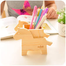 Pencil Holders For Desks Aliexpress Com Buy Animal Cute Wood Pencil Holder For Pens