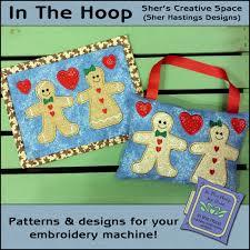 Gingerbread Rugs Ith Mug Rugs And Doorknob Hangers 5x7 Hoop