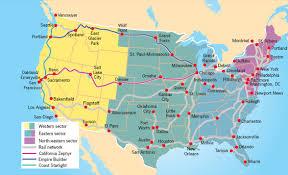 amtrak map usa usa rail travel journeys travelbag