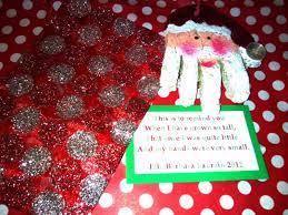 salt dough handprint santa ornament w poem this is to remind you