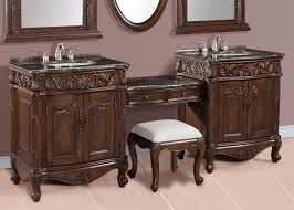 Bathroom Vanity With Seating Area by Double Sink Bathroom Vanity With Makeup Area Vanity Decoration