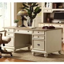 riverside coventry two tone executive desk hayneedle