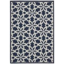 nourison caribbean navy 7 ft 10 in x 10 ft 6 in indoor outdoor