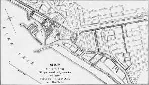 map of the erie canal buffalo s historic canal system