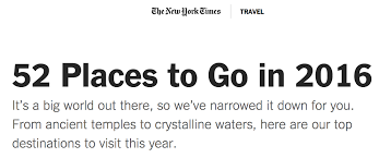 the new york times 52 places to go 2016