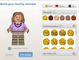 make your own lego minifigure family card inspiration