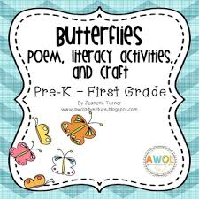 butterfly poem writing activities and crafts for pre k to