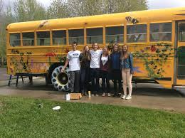Wyoming travel buses images Jackson hole community school students turn school bus into mobile jpg