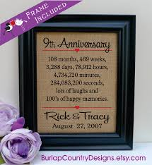 9th wedding anniversary gifts framed 9th anniversary 9th wedding anniversary gift 9th